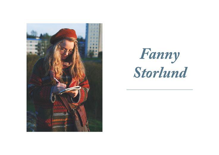 BLOMSTRANDE | Blomstrande personer – Fanny Storlund | http://blomstrande.com
