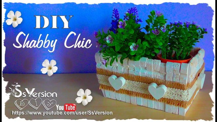 Tutorial: Contenitori in legno Shabby Chic | Riciclo Creativo | DIY Wood...<<<<