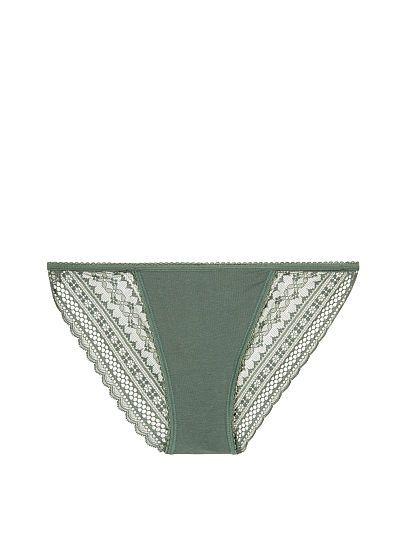 Lace-back String Bikini Panty