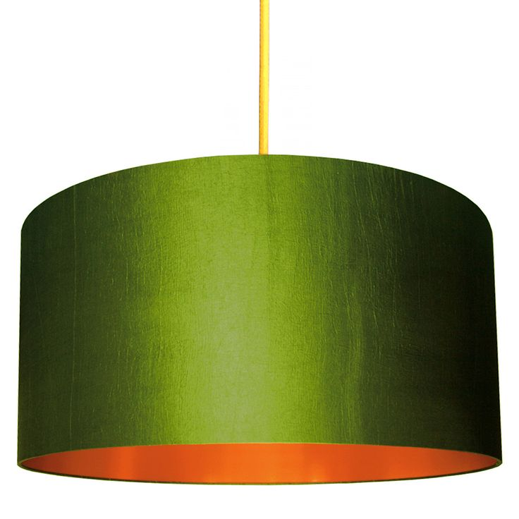 This gorgeous olive green and copper lampshade is band on trend this season and is available in no less than 14 different sizes, we're pretty sure we've got one for everyone!  Love Frankie lampshades are made using a high quality flame retardant PVC and an extensive range of sumptuous fabrics. Our frames are made with a 39mm European ring fitting with a 29mm UK reducing ring already fitted that will pop in and out if needed. Meaning all lampshades are suitable for both UK or European lamps…