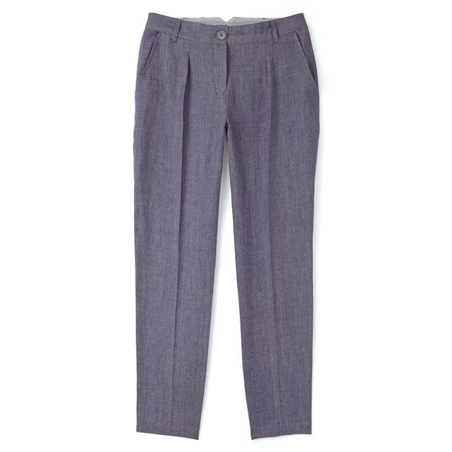 Datena Chambray Linen Marl 7/8-Length Trousers SOMEWHERE