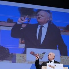 French Presidential election candidate Francois Asselineau during CAF in Brest (331178)