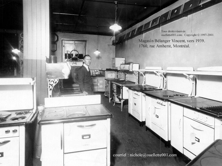 1939 - 2011 poêles à bois, Montréal, rue Amherst, magasin Bélanger, Berthier-sur-Mer, Les poêles à bois Blais.