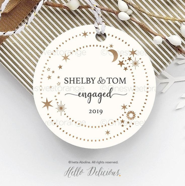 Engagement ornament engagement party gift personalized