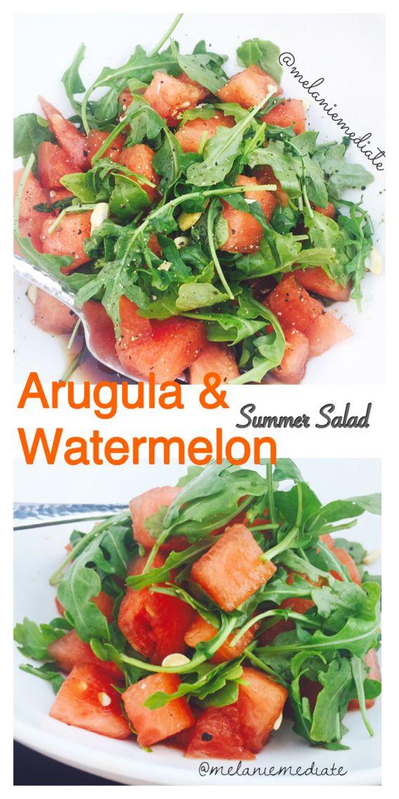 Refreshing & filling summer weight loss salad. Watermelon & arugula salad.