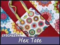 Hex Tote Video Crochet A-long Videos 1-6, Read full post for each episode to get more info and a crochet chart.