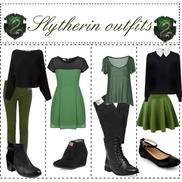 """Slytherin Outfits"" by ameliaroseoswald on Polyvore"