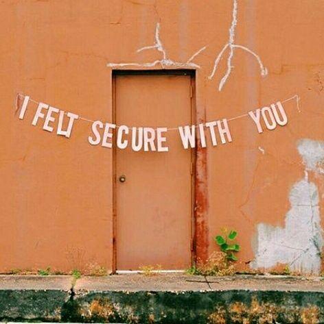 I felt it with you ...   orange love words banner romance  