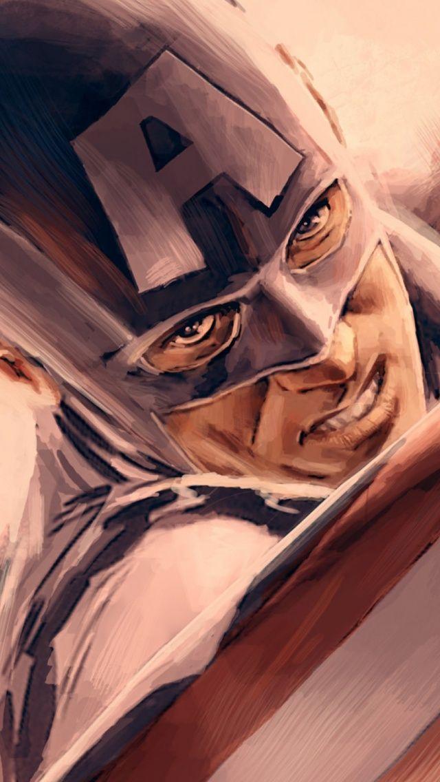 Captain america portrait illustration iphone 5 wallpaperg 640 captain america portrait illustration iphone 5 wallpaperg 6401136 super heroes pinterest voltagebd Gallery