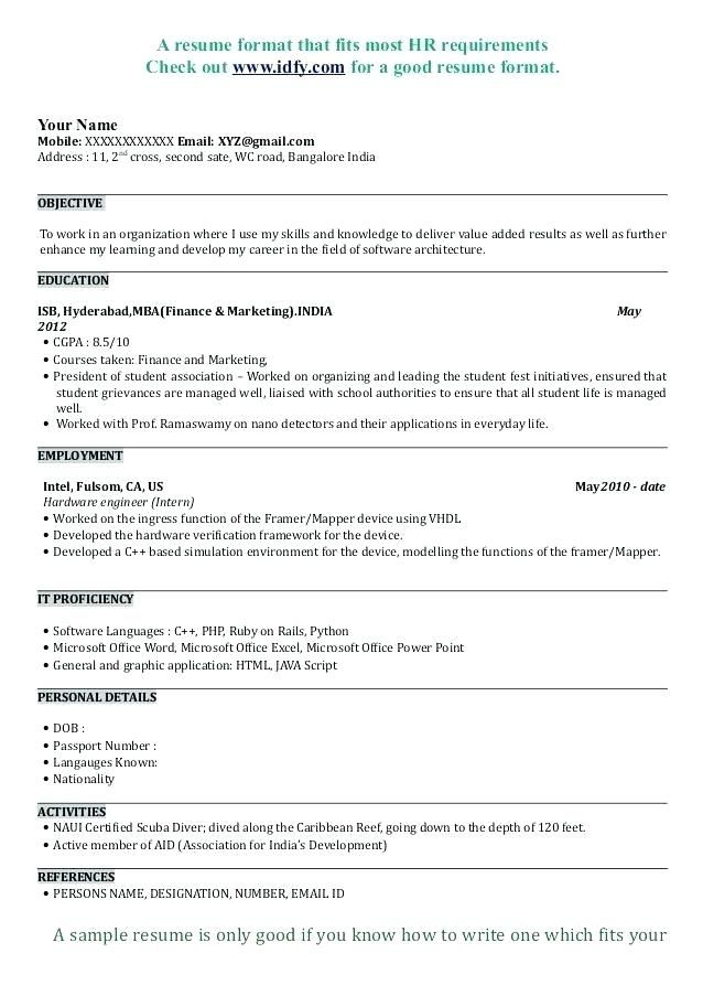 Sample Business Resume Template Business Resume Template Resume Format Download Best Resume Format