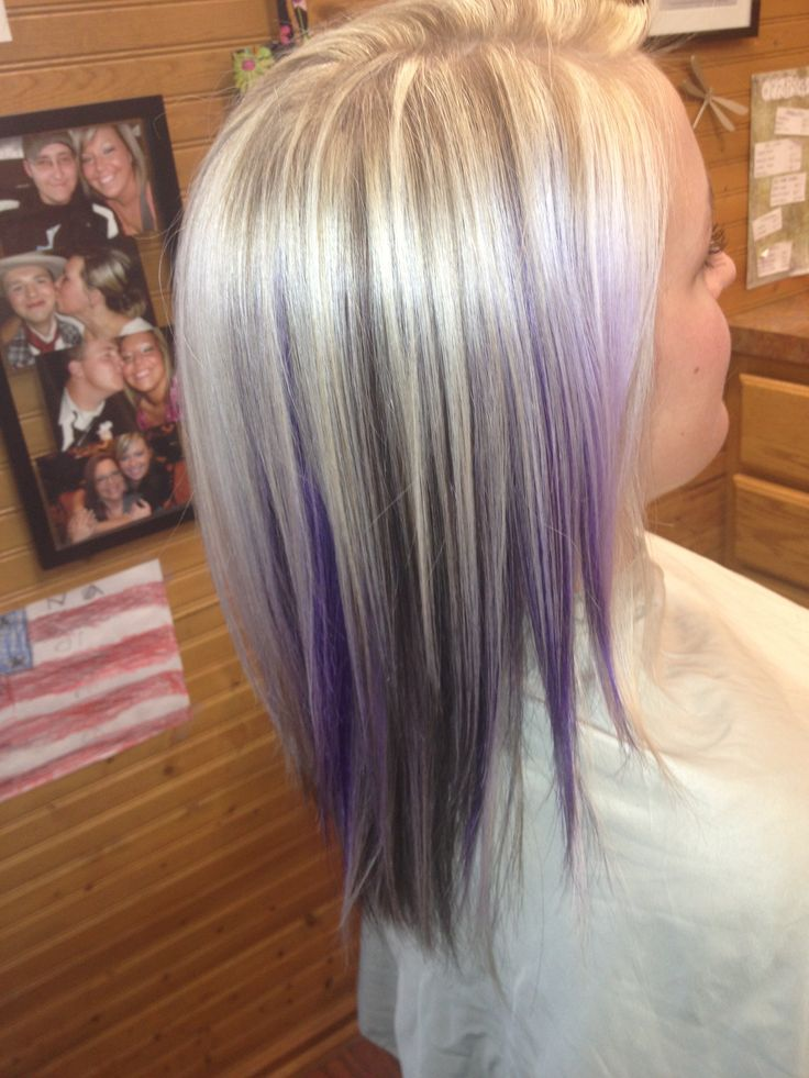 #purple #hair #funcolors #blonde
