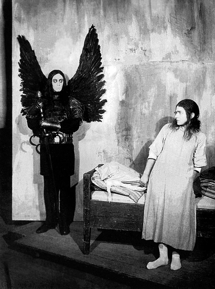 "Max Schreck as the Angel of Death in ""Hanneles Himmelfahrt (The Assumption of Hannele)"", Thea von Harbou, 1934"