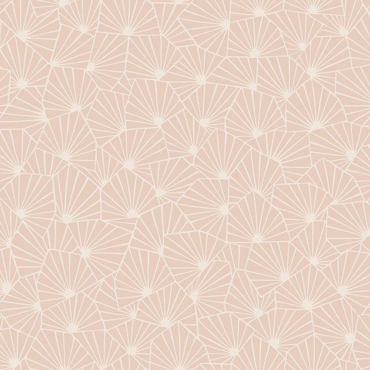 """Wonderland Blomma Geometric 33' X 21"""" Wallpaper Roll In"""