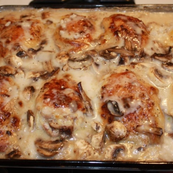 Baked Chicken Thighs With Cream Of Mushroom Soup