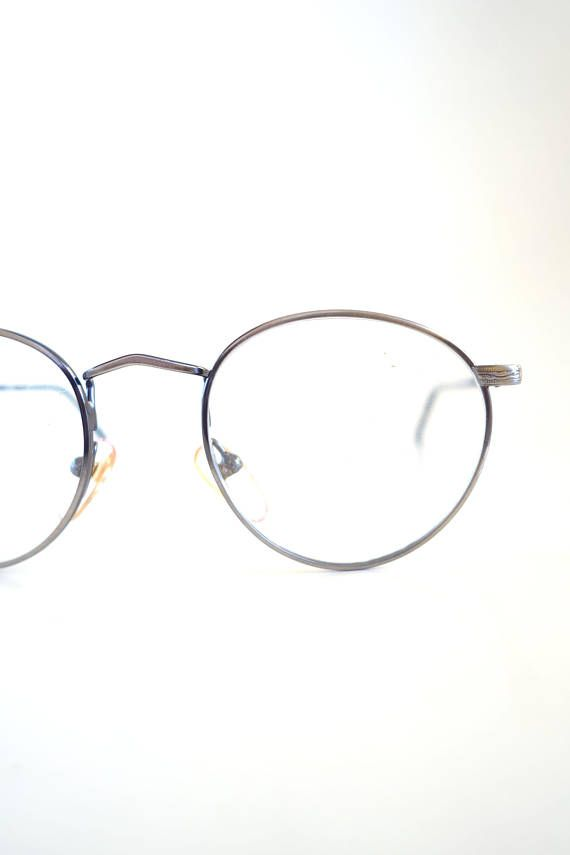Round Wire Rim Glasses - Womens Round 1980s Optical Frames - Antique ...
