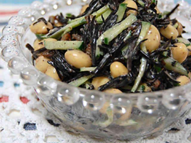 栄養満点!大豆とひじきのサラダの画像