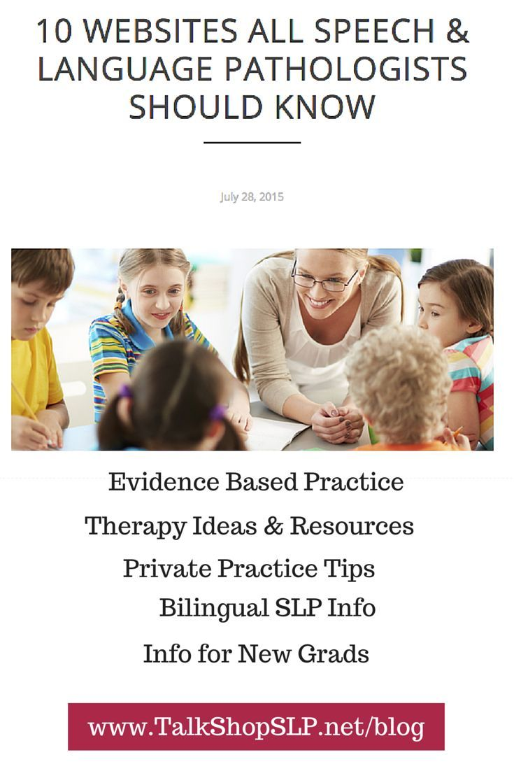 10 Websites all SLPs Should Know #slpeeps via @talkshopslp http://www.talkshopslp.net/blog/2015/7/27/10-websites-all-speech-language-pathologists-should-know-1