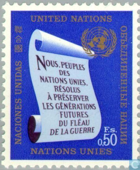 Premiers mots de la Charte de l'ONU, 4 octobre 1969 | Olav S. Mathiesen