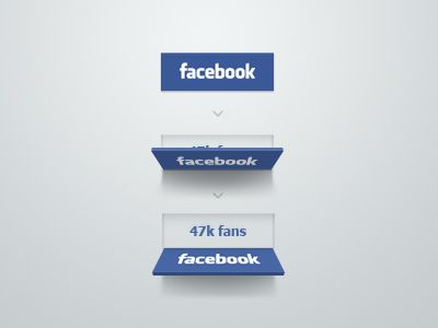Falling Facebook Button by Erik Deiner via Dribble