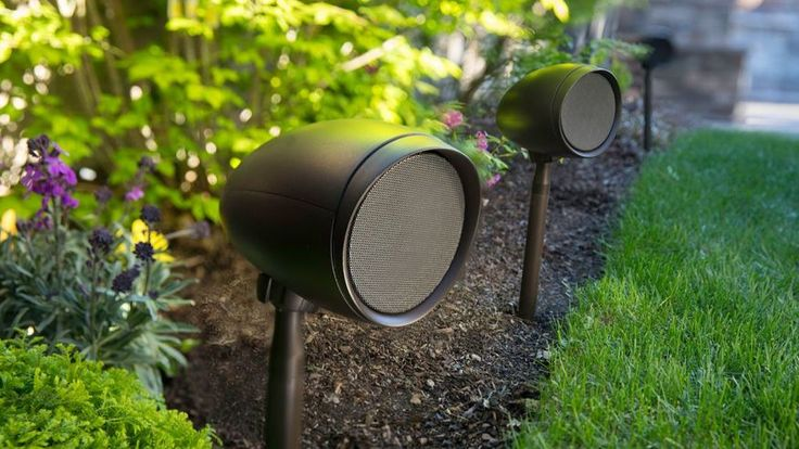 Amp up your yard's acoustics. Triad Garden Array speakers.