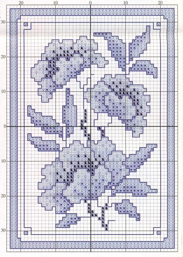 Schema punto croce Fiore Cinese2