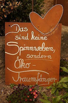 Edelrost Tafel Traumfänger Garten Schild Spruch G…