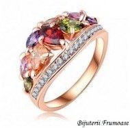 Inel cu cristale austriece multicolore http://www.bijuteriifrumoase.ro/cumpara/inel-cu-cristale-austriece-multicolore-733