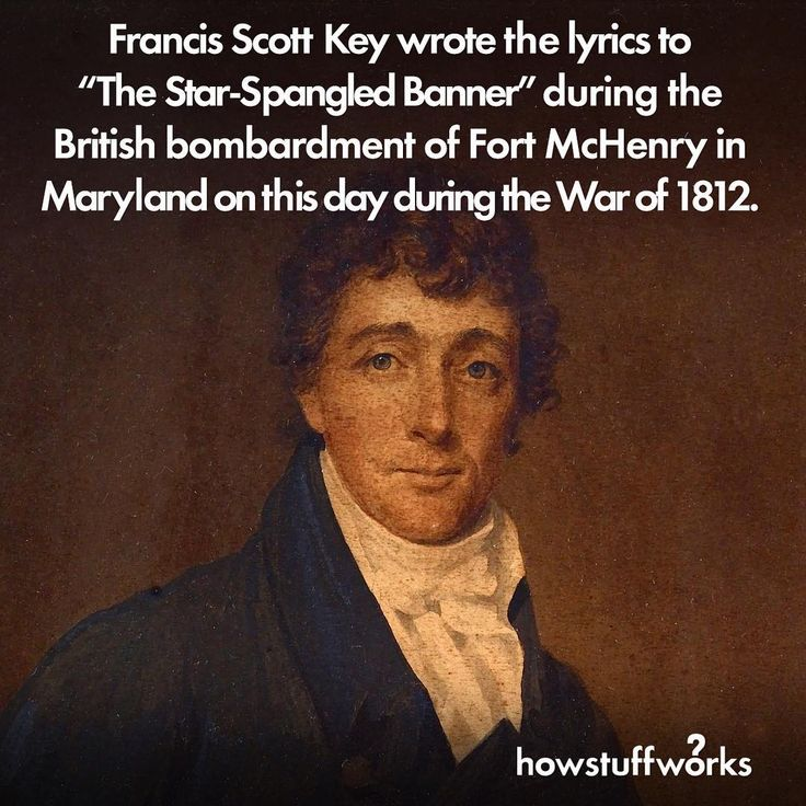"While being held captive aboard a British flag-ship at dawn on September 14 during the war of 1812, Francis Scott Key penned the words to the ""Star-Spangled Banner,"" the poem that would become the lyrics to the U.S. National anthem."
