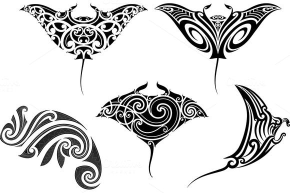 Maori tattoo patterns (5x) by Artefy on Creative Market