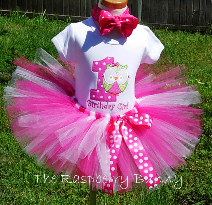 1st Birthday Owl - Owl Birthday - Owl Tutu Outfit - 1st Birthday Tutu Outfit. $55.00, via Etsy.