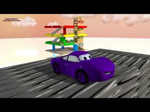 Learn Colors with Mc Queen Cars Educational Kid Video Nursery Song Mega Collection -_.