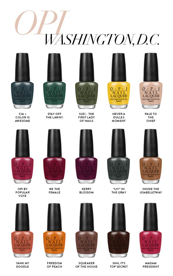 OPI Washington DC Collection = by popular vote