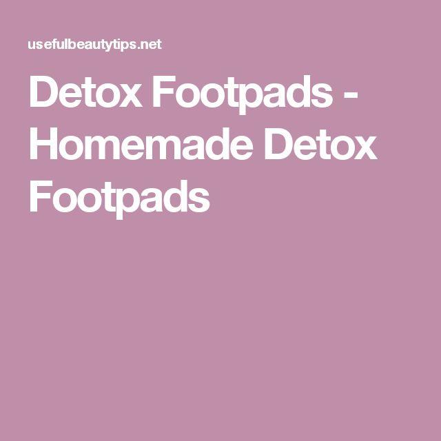 Detox Footpads - Homemade Detox Footpads
