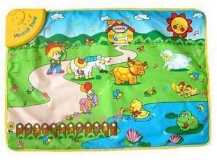 Happy Farm Game Pad Animal Sounds and Music Mats L Green