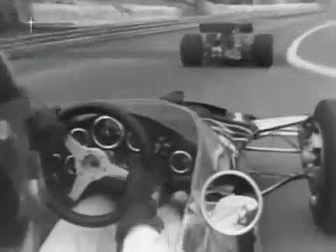 1970 - On board with Graham Hill at Monaco circuit.