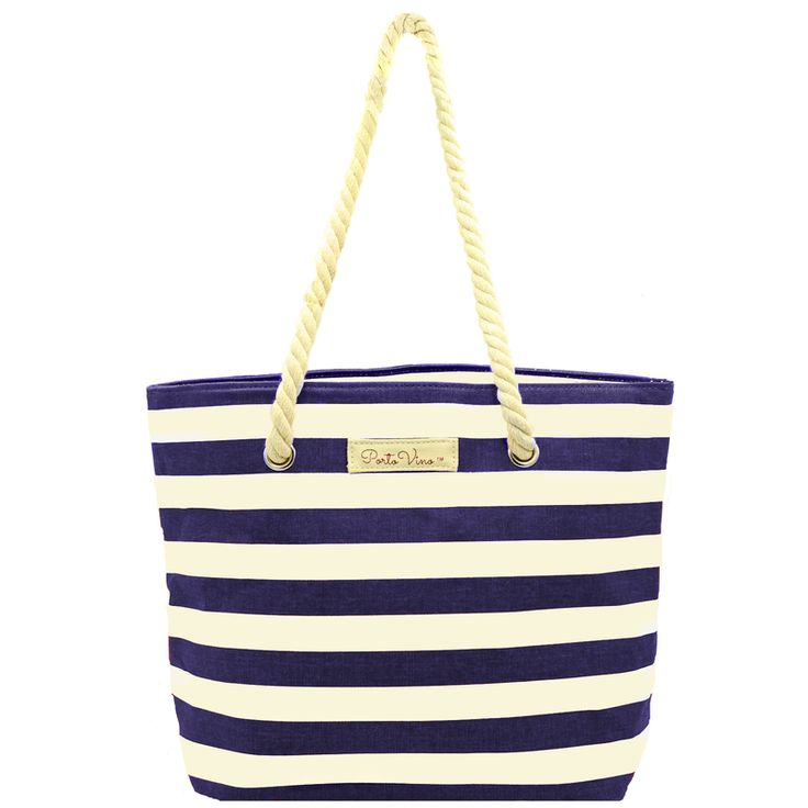 PortoVino Wine Purse Canvas Blue- the Beach Bag of our dreams!