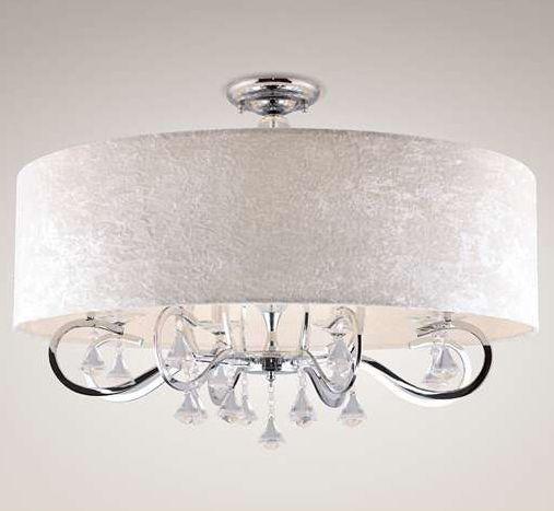 Abażurowy plafon z kryształkami doda blasku każdemu wnętrzu. #mlamp #oświetlenie #lampa #lampy #glamour #wystrój #wnętrz #salon #plafon #kryształki