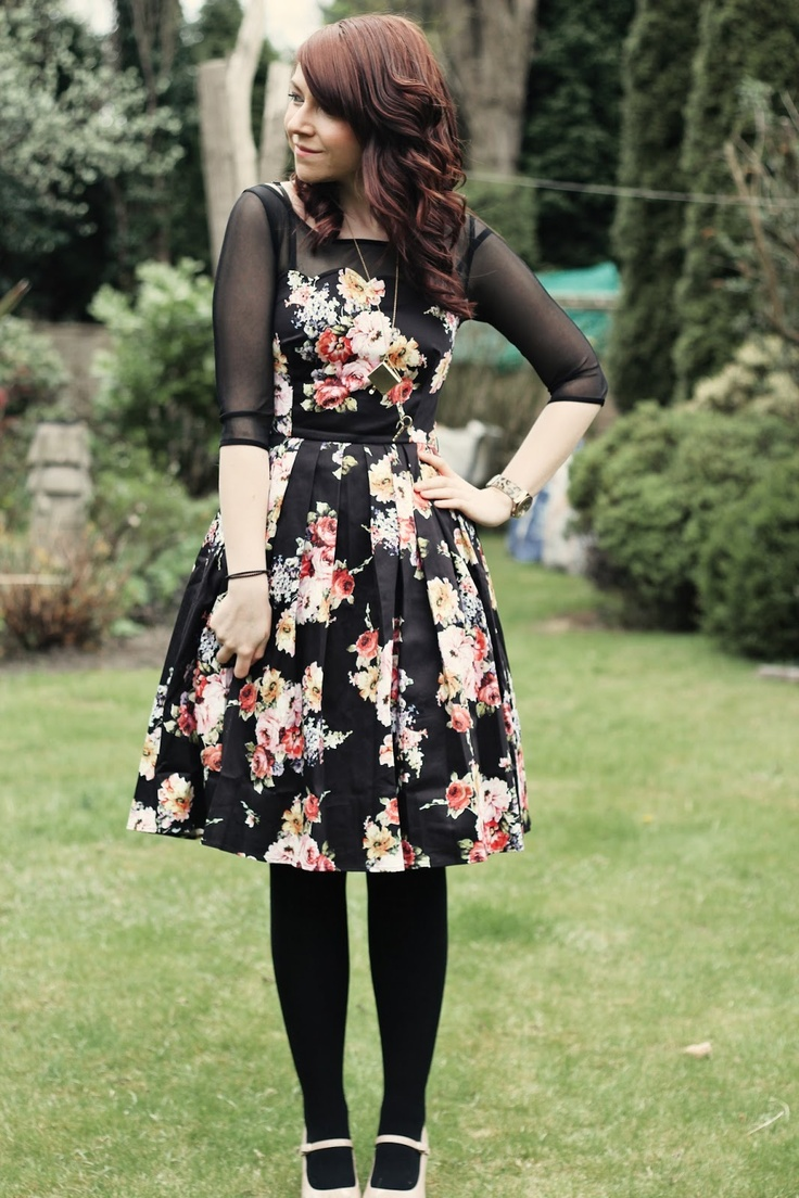 Beautiful floral dress! So feminine and delicate. Love the waist and neckline