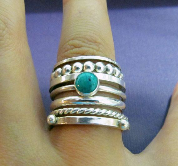 Bubble Sterling Silver Stacking Ring by theDandelionBay on Etsy, $15.00 Silver Jewelry Turquoise Jewelry