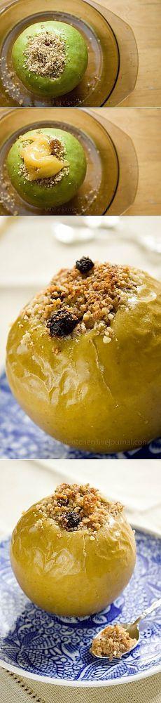 Как приготовить яблоки, запеченные с мёдом и орехами - рецепт, ингридиенты и фотографии