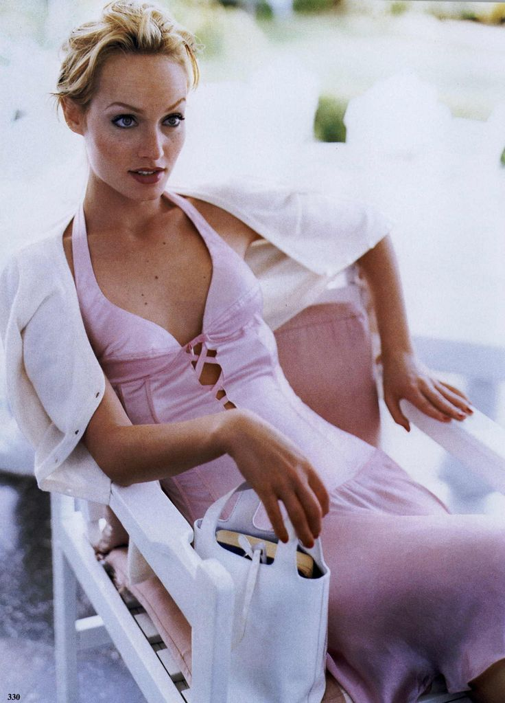 "Amber Valletta in ""A Satin Finish"" by Pamela Hanson for Vogue US April 1995"
