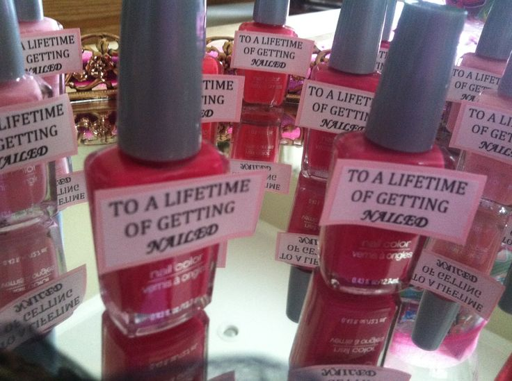 """Bachelorette party favor. """"To a Lifetime of Getting Nailed!"""" SO CUTE! Hopefully for when I have the chance to throw someone a bachelorette party :)"""