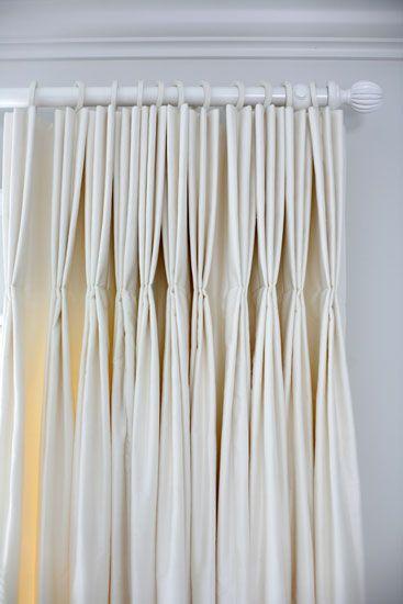Long pinch pleats