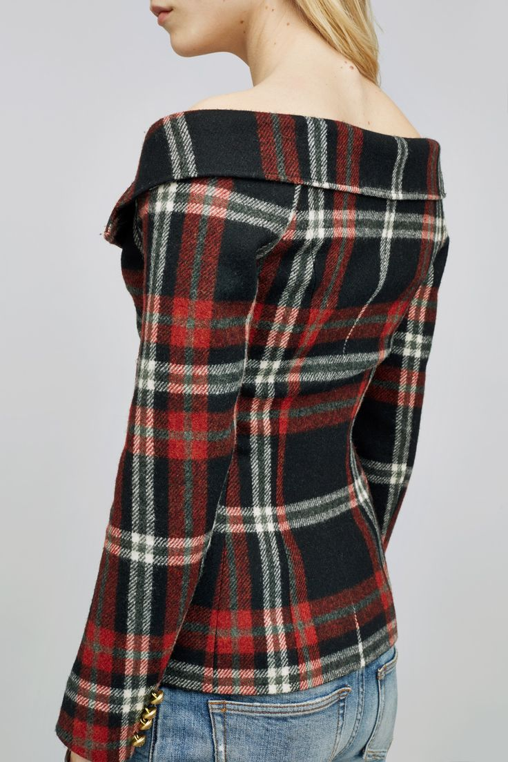 100% wool jacket using fabric from Alexanders of Scotland. Courtesy of Faith-Connexion