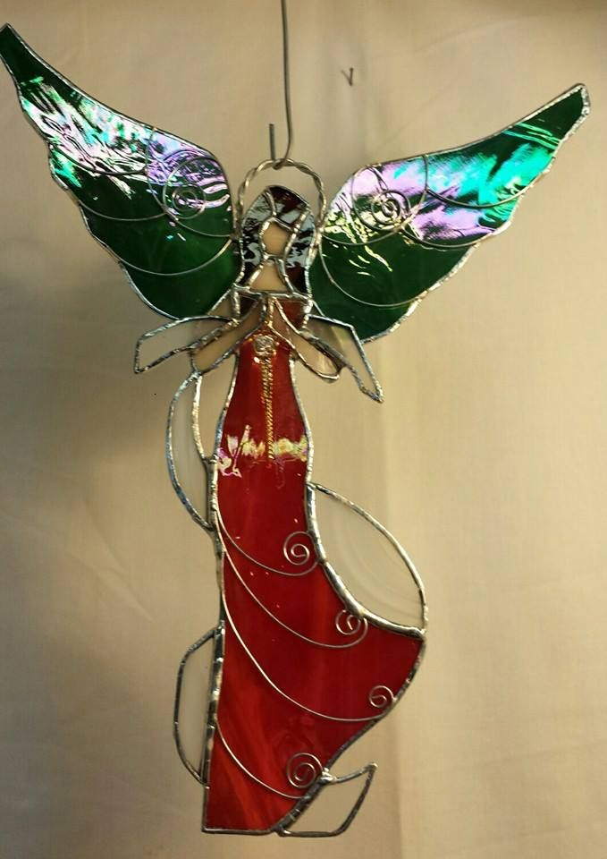 """GORGEOUS Christmas Angel just completed. She shimmers in her majestic flight, and sings of peace for our earth. 19 pcs, measuring 11.5"""" X 9.25"""" ... $45.00 + s/h."""