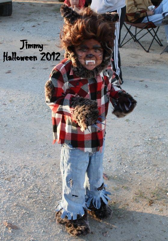 Jimmy's homemade werewolf costume