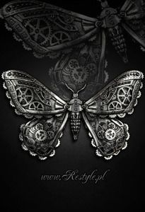 RESTYLE Mechanical Moth Silver Hairclip