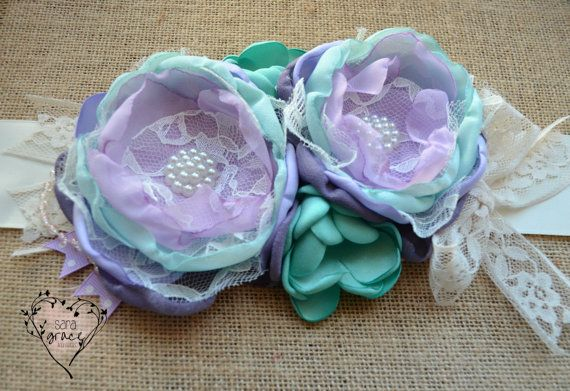 Spring Flora Collection  Maternity Sash by SaraGraceAccessories, $52.00