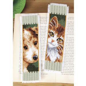 Puppy and Kitten Bookmarks - Cross Stitch, Needlepoint, Embroidery Kits – Tools and Supplies