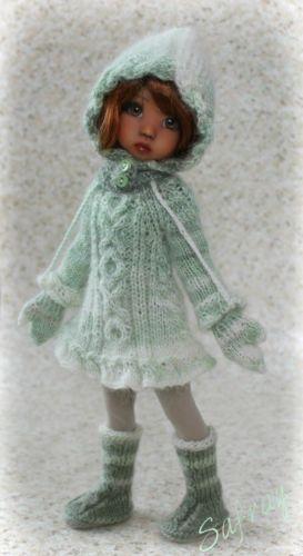 """Mittens IN Green"" Ooak Ensemble FOR Kaye Wiggs Millie Tillie 27cm Slim BJD | eBay"